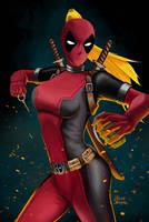 Lady Deadpool by jaleh