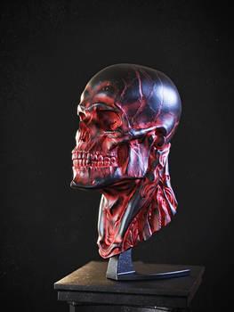 Biomech skull - Red