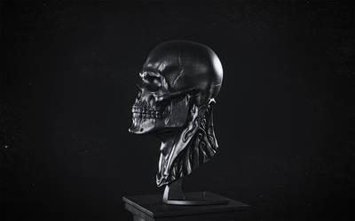 Biomech skull - BLACK