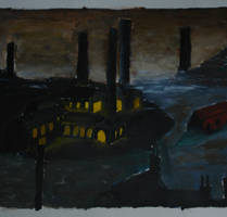 Industrial Landscape, inspired by L.S. Lowry by olls96