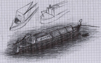 Canal Boat Sketch