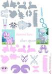 diamond tiara and silver spoon papercraft