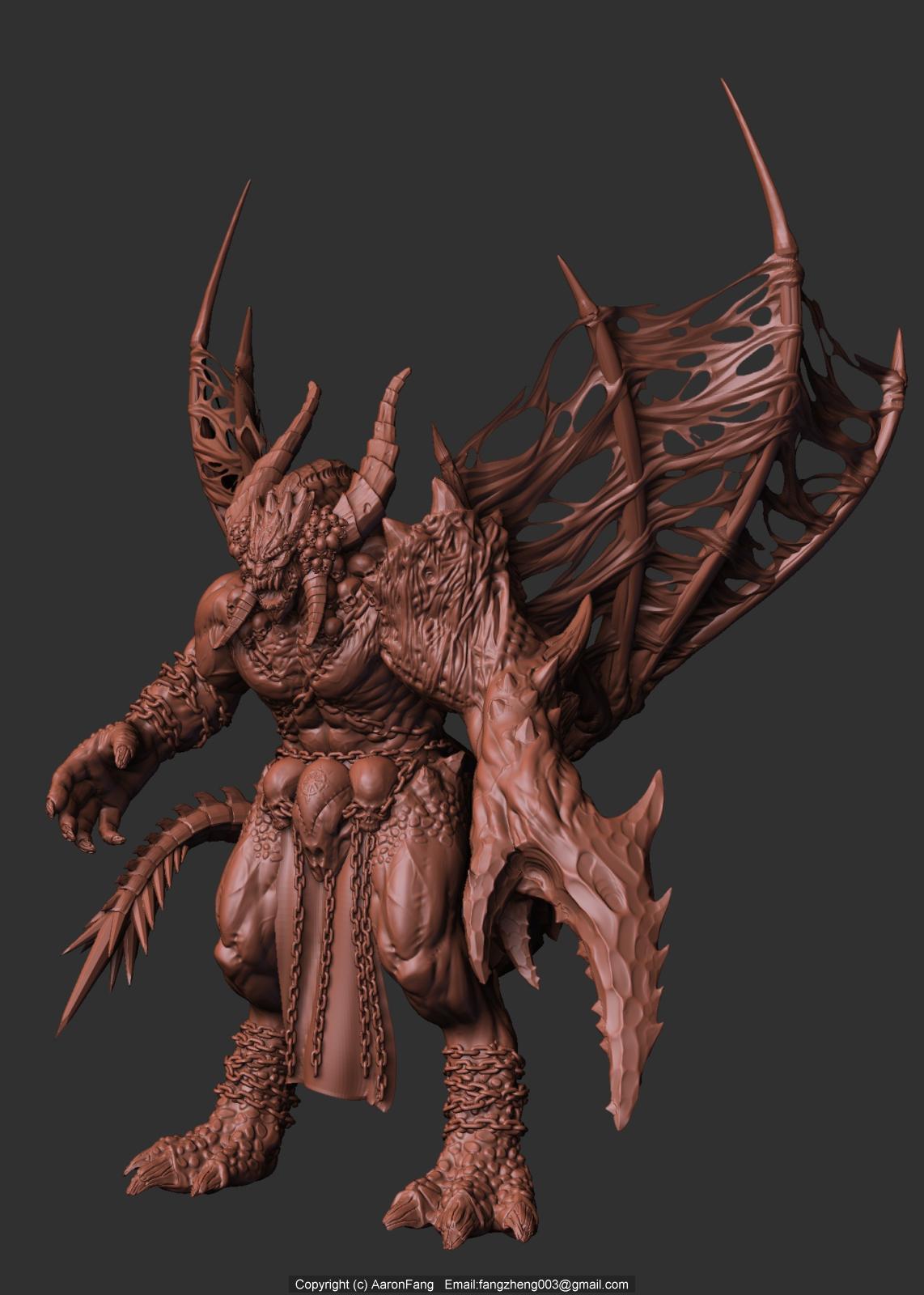 DeamonLord digital sculpture by aaronfang-art