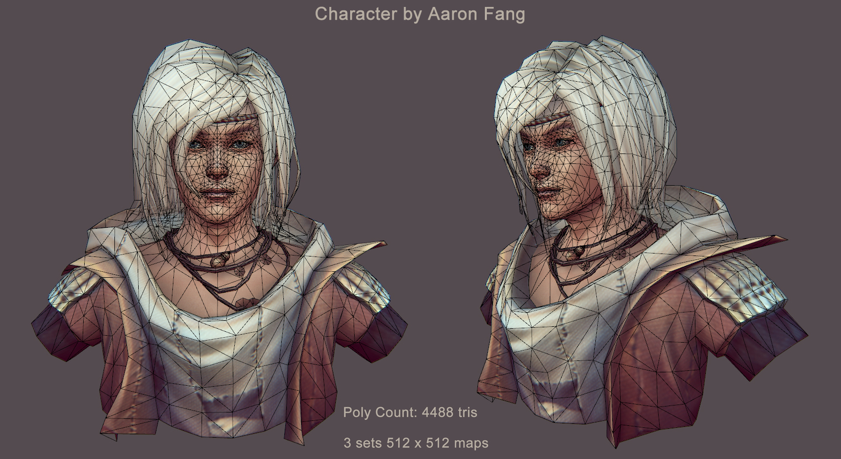 Character Model Wireframe By Aaronfang-art On DeviantArt