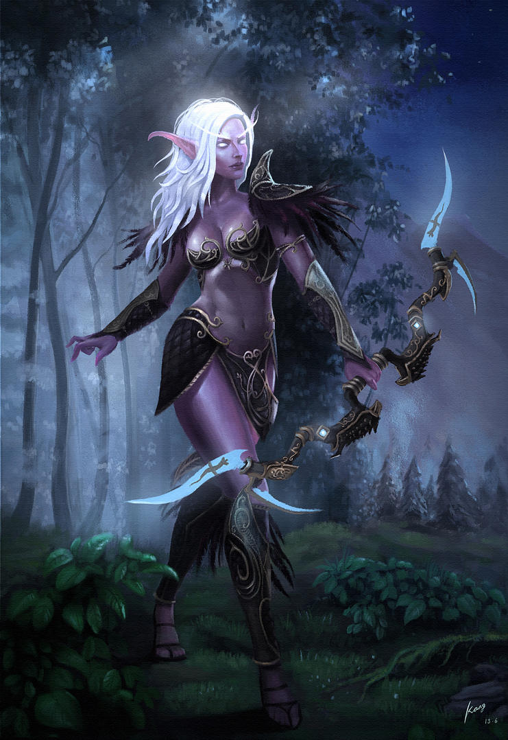 night elf by AdyXXK