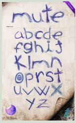 Typeface: Mute by Aguiluz