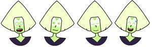 Random peridot faces