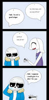 {Undertale Comic} Sing With Me by joshiepopop