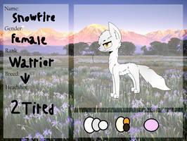 Snowfire || WoR App by joshiepopop