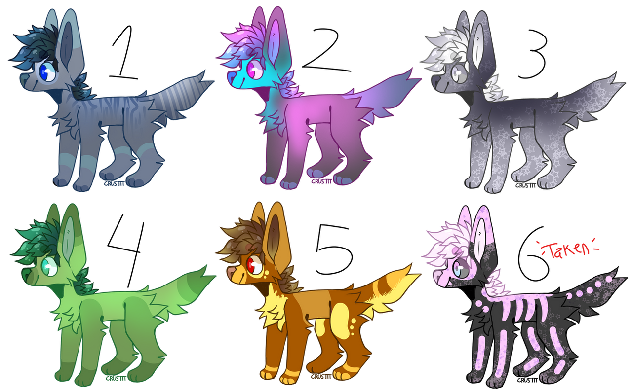 [Canine Base Adopts] [3/6 OPEN] by joshiepopop