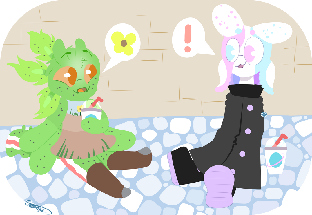 [C-C] Slushies? In the middle of winter?? by joshiepopop