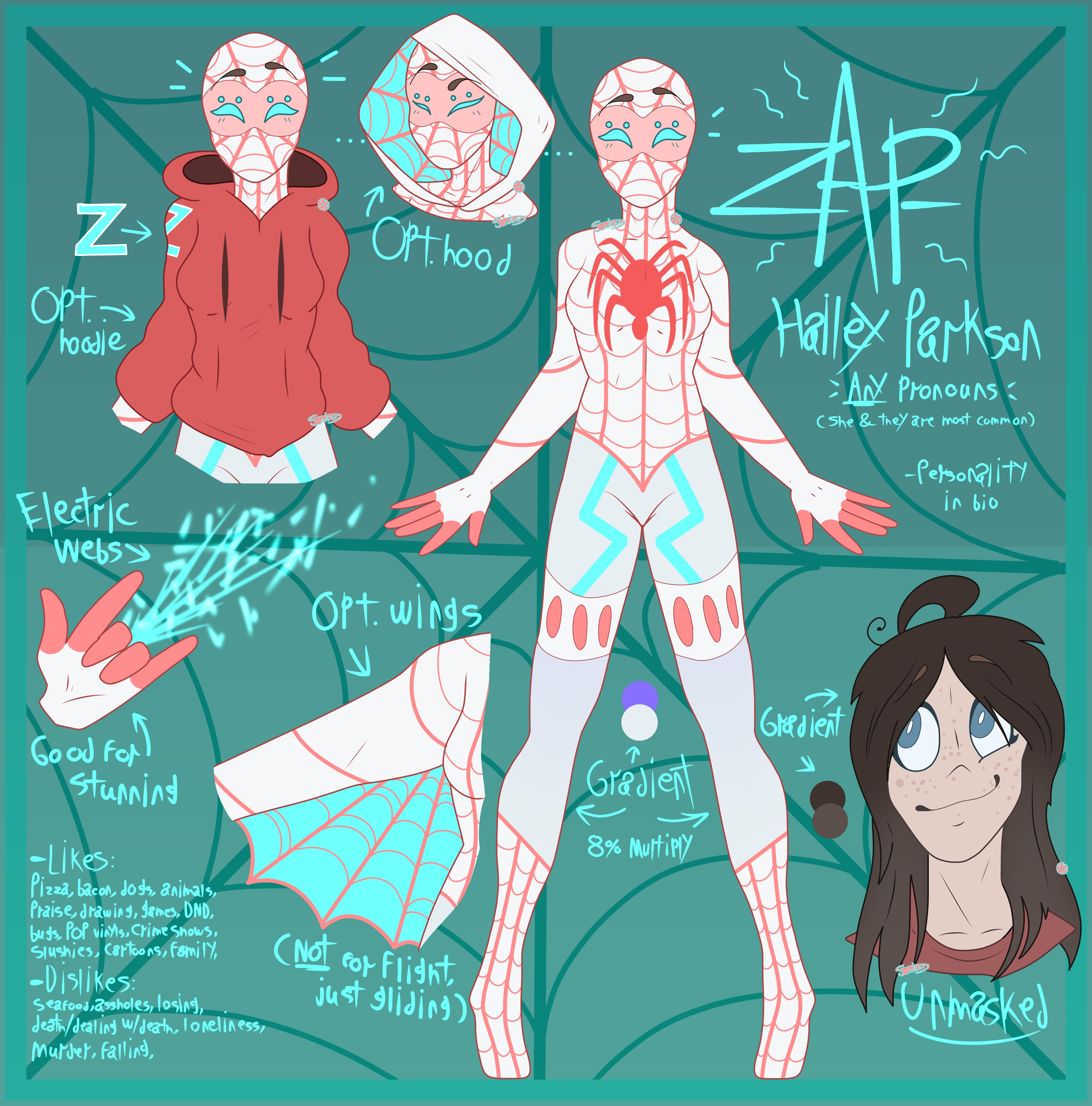 [Spidersona] The Amazing Zap-Spider by joshiepopop