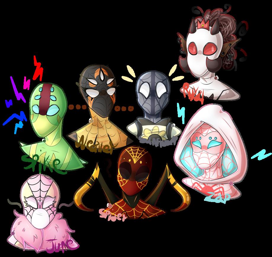 [Spidersonas] Spidey Gang by joshiepopop
