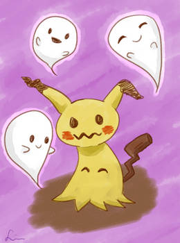Mimikyu and Ghost Friends