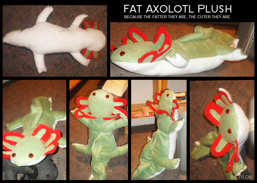 Fat Axolotl Plush by Tylon