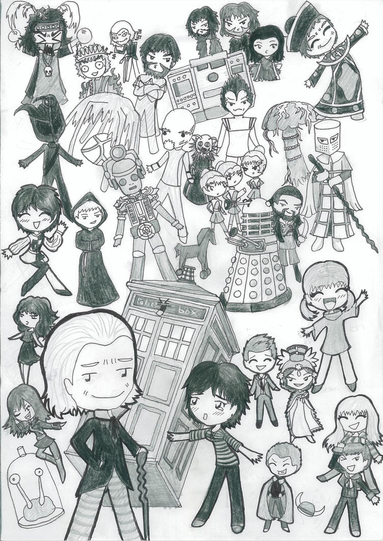 1st Doctor Chibi Madness! by SpazMuse