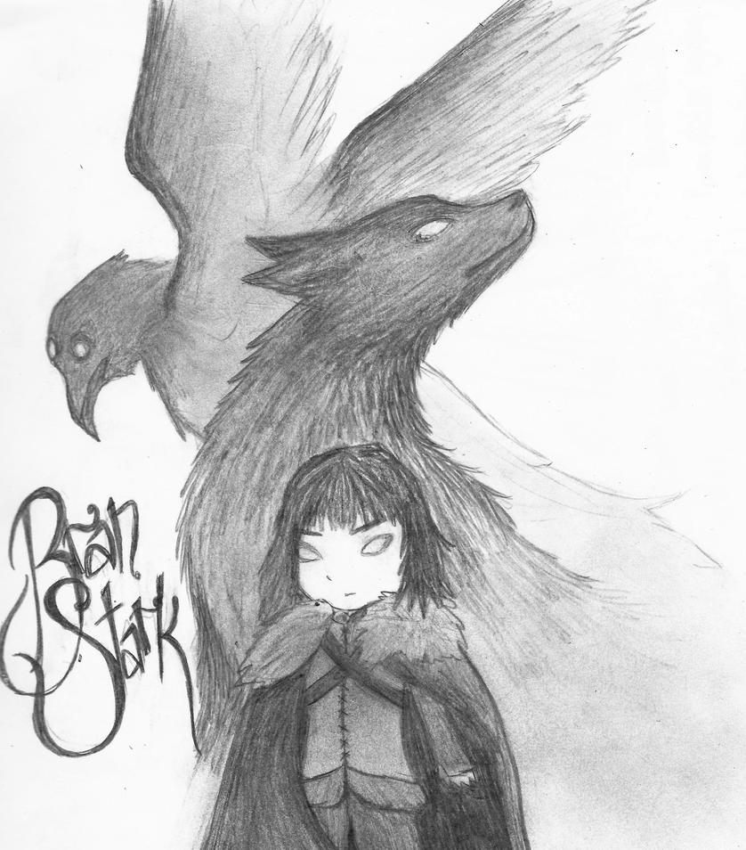 The Warg Bran Stark -GoT by SpazMuse