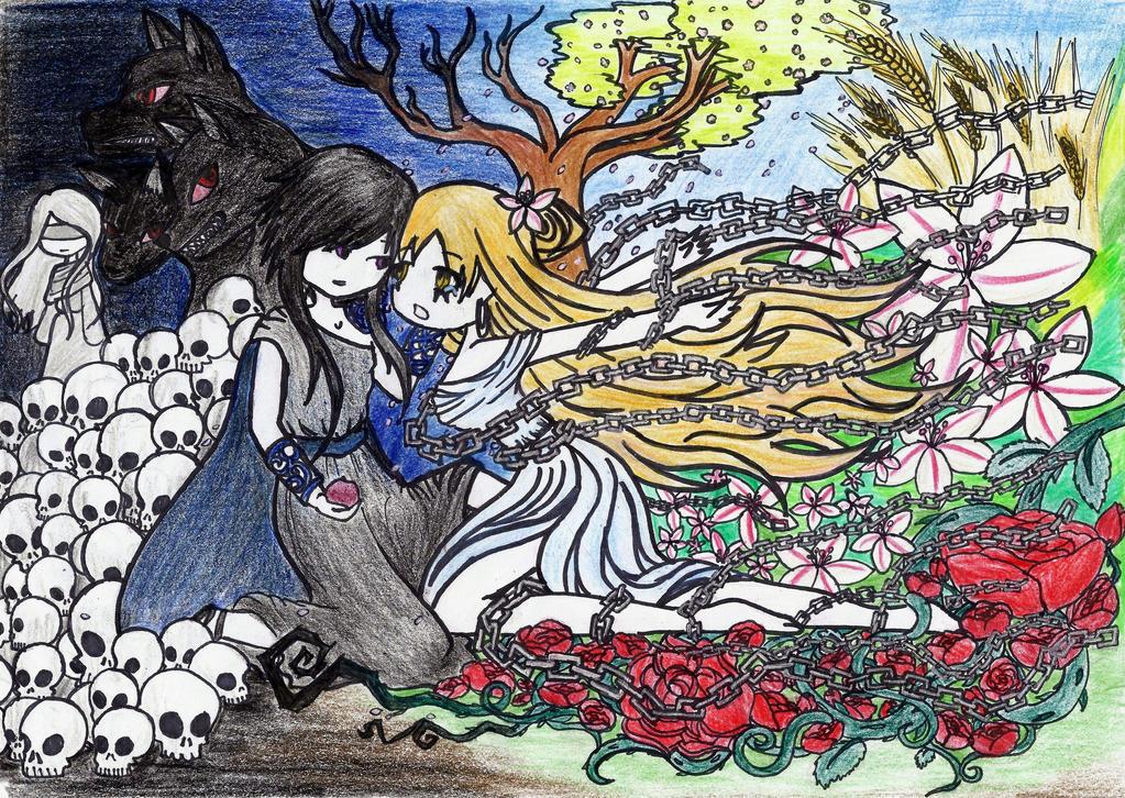MYth Fanart -'Spring Chains' by SpazMuse