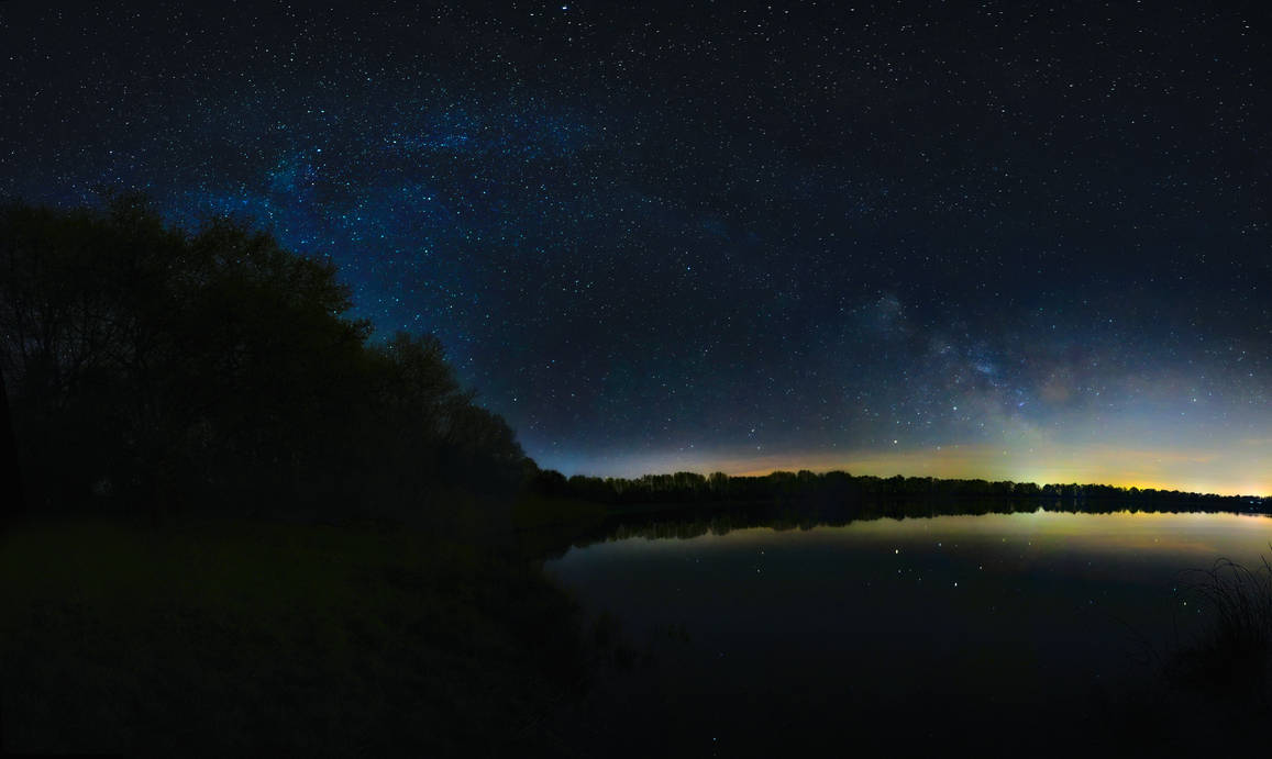 Milky Way over the Sachsensee by mnzl