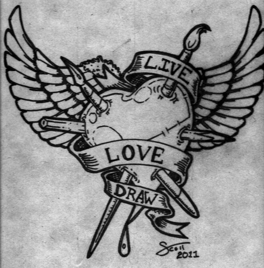 Live love draw by hassified on deviantart for Love stuff to draw