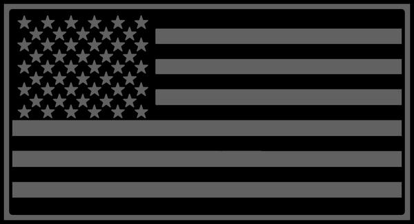 Grey US Flag by hassified