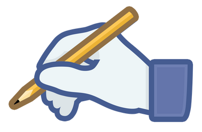 Hand with Pencil Social Media Icon by hassified