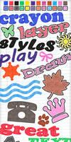 24 Crayon Layer Styles