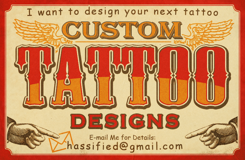 Custom Tattoo Design by hassified