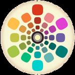 Worn Vintage Color Wheel
