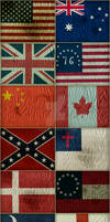 30 Distressed Flags