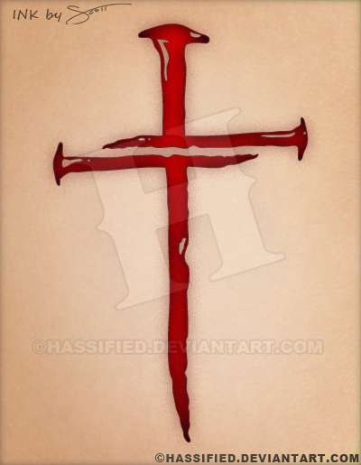 Three Nails Cross Tattoo By Hassified On Deviantart