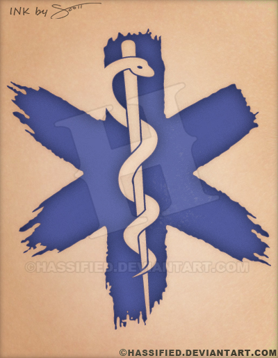 236e4a6f93513 Star Of Life Ems Tattoo by hassified on DeviantArt