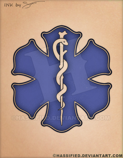 fde9631287f51 Old World Style Star of Life, EMS Tattoo by hassified on DeviantArt
