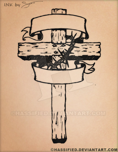 Old rugged cross tattoo by hassified on deviantart for Old rugged cross tattoo designs