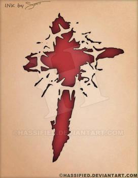 Blood Cross Tattoo