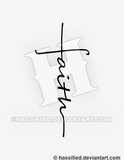 Faith cross by hassified on deviantart for Faith cross tattoos