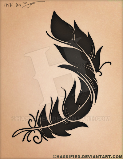 Feather Tattoo Design by hassified on DeviantArt