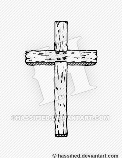old rugged cross by hassified on deviantart wooden cross clip art black and white wooden cross clip art with a nail in it