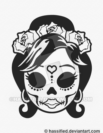 Mexican Sugar Skull Vector By Hassified On Deviantart