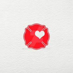 Firefighter Love SVG
