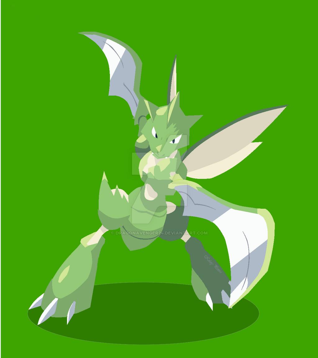 Scyther by DragonAvenger24