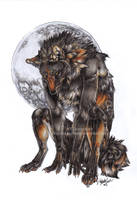 Moon's little predator by Tuonenkalla