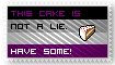 This cake is not a lie stamp by Tuonenkalla