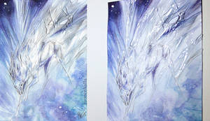 ACEO: Ice Comet by Tuonenkalla
