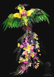 Flower Phoenix by Tuonenkalla