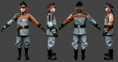 Wolfenstein The New Order - Air Force Commander by crashxz-2