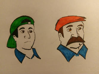 Mario and Luigi by JulianIvoRobotnik