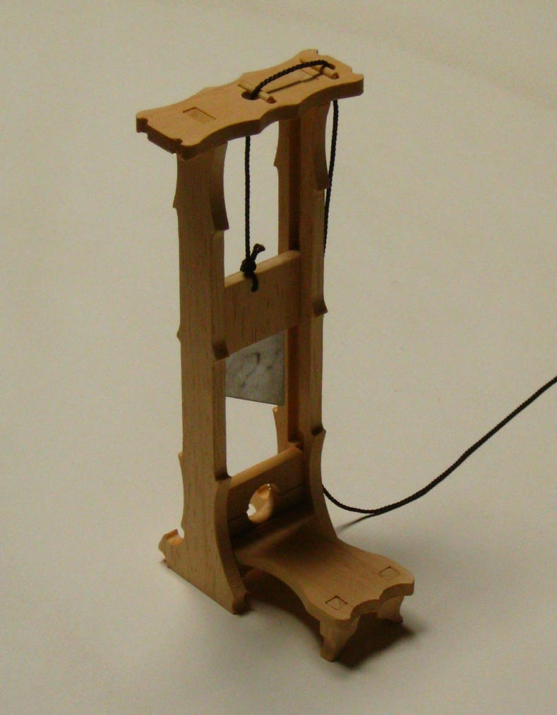 Guillotine / model kit by PeSymbolic on DeviantArt