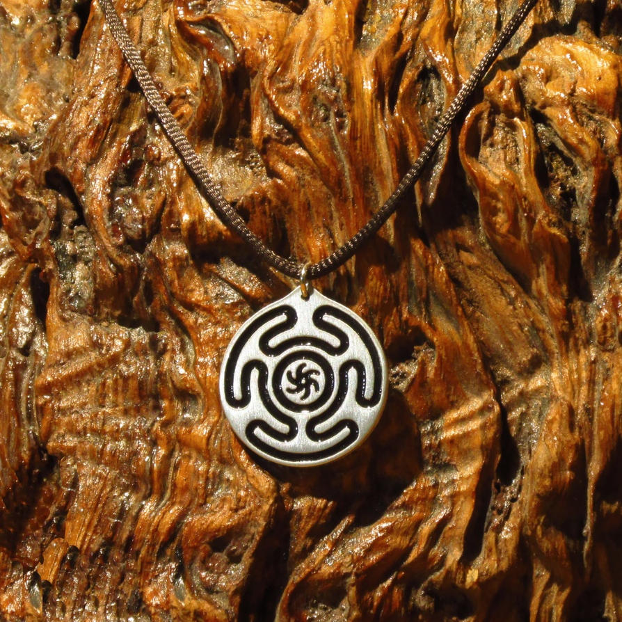 spiritual s wheel darker version bronze hekate pin hecate pendant