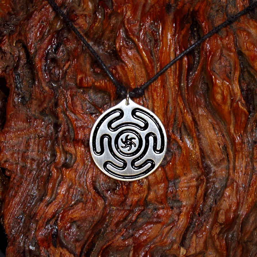 life triple amulet awakening of pentagram rising hecate tree product moon pendant